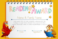 Free Vector | Certificate Template For Reading Award inside Unique Reader Award Certificate Templates