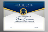 Free Vector | Elegant Blue And Gold Diploma Certificate Template pertaining to Best Diploma Certificate Template Free Download 7 Ideas