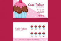 Free Vector | Lovely Loyalty Card Template With Cupcake within Cupcake Certificate Template Free 7 Sweet Designs