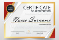 Free Vector | Modern Certificate Of Appreciation Template pertaining to Recognition Certificate Editable