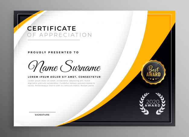 Free Vector | Professional Certificate Template Diploma For Winner Certificate Template Ideas Free