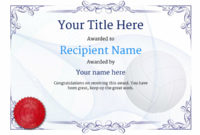 Free Volleyball Certificate Templates – Add Printable Badges in Volleyball Participation Certificate