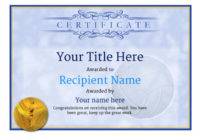 Free Volleyball Certificate Templates – Add Printable Badges throughout Volleyball Participation Certificate