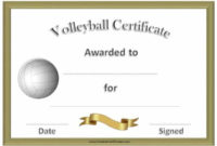 Free Volleyball Certificate Templates – Customize Online with Volleyball Participation Certificate