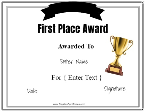 Free Winner Certificate Template   Customize Online & Print With Unique Contest Winner Certificate Template