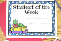 Freebie – Student Of The Week Certificates with regard to Unique Student Of The Week Certificate