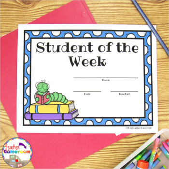 Freebie - Student Of The Week Certificates With Regard To Unique Student Of The Week Certificate