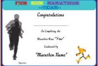 Fun Run Certificate Template : 14+ Editable Free Word for Marathon Certificate Template 7 Fun Run Designs