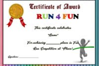 Fun Run Certificate Template : 14+ Editable Free Word intended for Marathon Certificate Template 7 Fun Run Designs