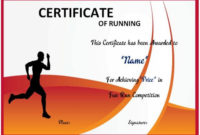 Fun Run Certificate Template : 14+ Editable Free Word with Marathon Certificate Template 7 Fun Run Designs