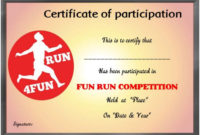 Fun Run Certificate Template : 14+ Editable Free Word within Best Marathon Certificate Template 7 Fun Run Designs