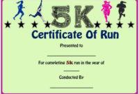 Fun Run Certificate Template : 14+ Editable Free Word within Best Marathon Certificate Template 7 Fun Run Designs