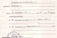 German Death Certificates From Germany throughout Death Certificate Template