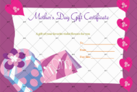 Gift Box Mother'S Day Gift Certificate Template with regard to Mothers Day Gift Certificate Template