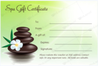Gift Certificate 27 – Word Layouts | Massage Gift with Fresh Spa Gift Certificate