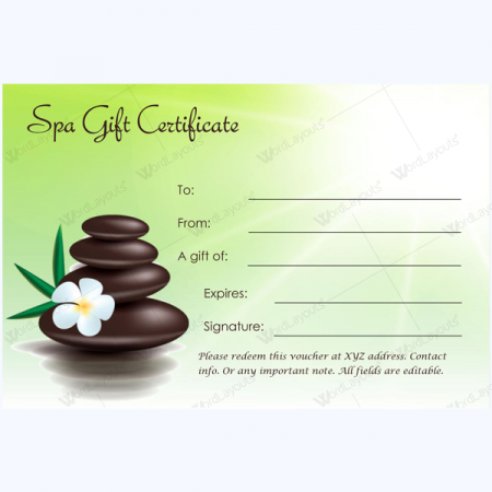 Gift Certificate 27 - Word Layouts | Massage Gift Within Best Free Spa Gift Certificate Templates For Word