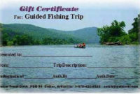 Gift Certificate For Our Guided Fishing Trips At Cotter inside Best Fishing Gift Certificate Template