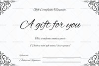 Gift Certificate Template – 19+ Choose & Customize For Any with regard to Tattoo Gift Certificate Template