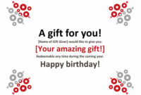 Gift Certificate with Unique Gift Certificate Template In Word 10 Designs