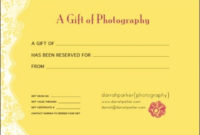 Gift Certificates | Gift Certificates, Fundraising Crafts, Gifts within Fresh Photography Session Gift Certificate