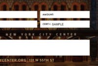 Gift Certificates | New York City Center with regard to Restaurant Gift Certificates New York City Free