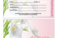 Gift Certificates Printing For Nail Salon within Nail Salon Gift Certificate
