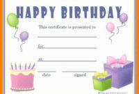 Gift Certificates Templates Free Printable Birthday Gift within Fresh Happy Birthday Gift Certificate