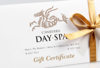 Gift Vouchers — Canberra Day Spa within Fresh Spa Gift Certificate