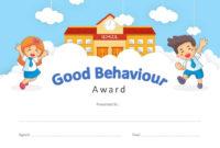 Good Behavior Award Powerpoint Certificate – Pslides with Good Behaviour Certificate Templates