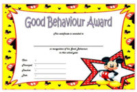 Good Behavior Certificate Free Printable 10 In 2020 regarding Unique Good Behaviour Certificate Editable Templates