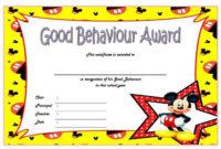 Good Behavior Certificate Free Printable 10 In 2020 with Good Behaviour Certificate Template 10 Kids Awards