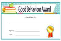 Good Behavior Certificate Free Printable 6 In 2020   Student inside Good Behaviour Certificate Templates