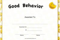 Good Behavior Certificate Template Download Printable Pdf for Fresh Good Behaviour Certificate Templates