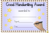 Good Handwriting Award Certificate Template Download regarding Handwriting Award Certificate Printable