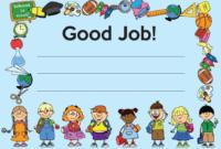 Good Job Certificate Template (2) – Templates Example regarding Good Job Certificate Template Free