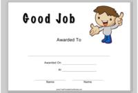 Good Job Certificate Template Download Printable Pdf inside Fresh Good Job Certificate Template
