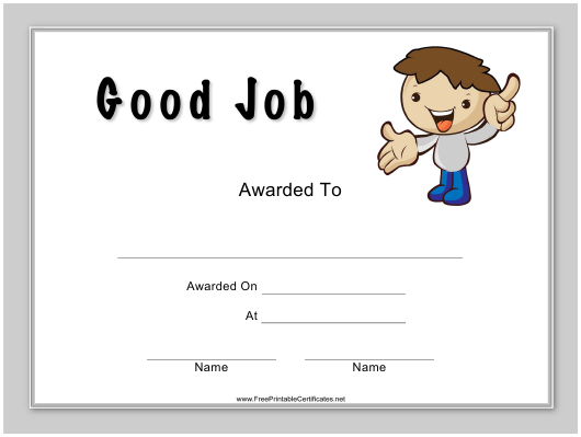 Good Job Certificate Template Download Printable Pdf With Regard To Unique Good Job Certificate Template Free
