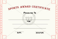 Good Sports Award Certificate Templates For Free Download within Athletic Award Certificate Template