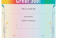 Great Job Certificate Template Download Printable Pdf with Unique Great Work Certificate Template