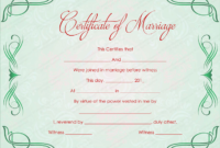 Green Grills Marriage Certificate Template intended for Marriage Certificate Editable Template
