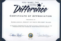 Gsswi: Awards | Certificate Of Recognition Template for Fresh Volunteer Certificate Templates