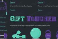 Gym-Exercise-Gift-Certificate-Template (Gift Certificate with Editable Fitness Gift Certificate Templates