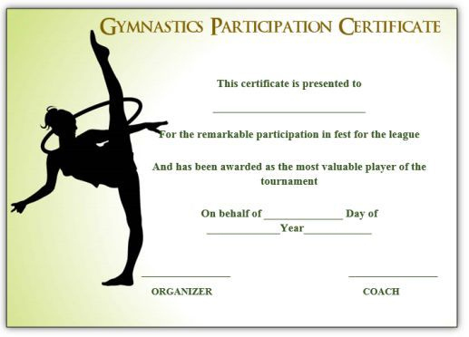 Gymnastic Certificate: Creative Certificates Free To With Unique Physical Education Certificate 8 Template Designs