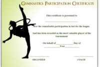 Gymnastic Certificate: Creative Certificates Free To within Unique Best Coach Certificate Template Free 9 Designs