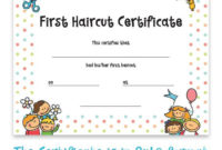 Haircut Certificate, First Haircut Certificate, Christmas Gift, Photo  Certificate, Baby First Haircut, Kids Gift, Printable Art, 8X10 Format pertaining to First Haircut Certificate Printable Free 9 Designs