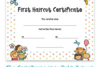 Haircut Certificate, First Haircut Certificate, Christmas Gift, Photo  Certificate, Baby First Haircut, Kids Gift, Printable Art, 8X10 Format within First Haircut Certificate