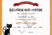 Halloween Best Costume Certificate Templates | Word & Excel pertaining to Halloween Costume Certificate