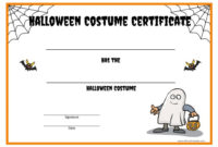 Halloween Costume Certificate – Free Printable throughout Unique Halloween Costume Certificate