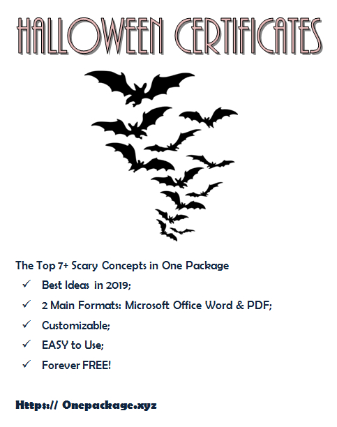 Halloween Costume Certificate Template Free In 2020 Within Best Halloween Costume Certificates 7 Ideas Free