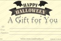 Halloween Gift Certificate (Bat, #1023) pertaining to Best Halloween Gift Certificate Template Free